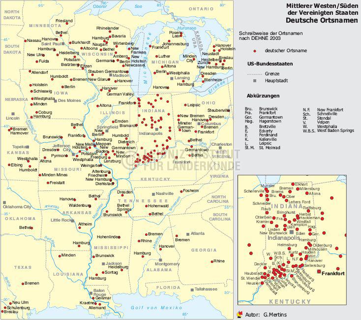 Deutsche Städtenamen Usa