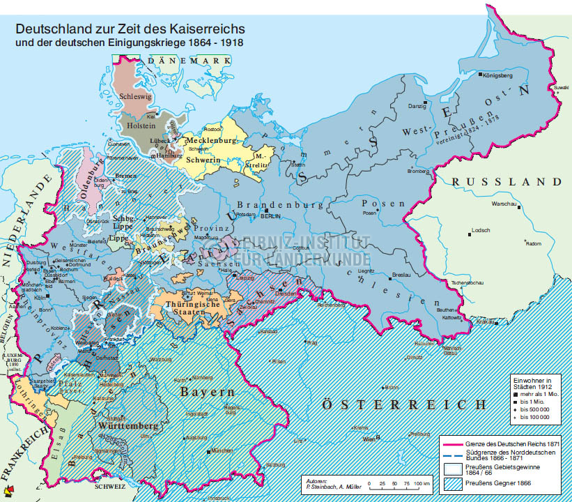 Deutschland Zur Zeit Des Kaiserreichs Und Der Einigungskriege
