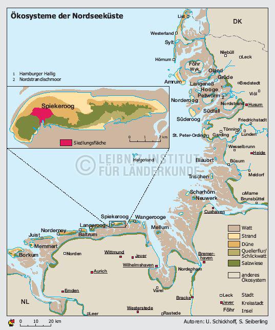 Karte Nordseeküste Niedersachsen.ökosysteme Der Nordseeküste Schleswig Holstein Niedersachsen 1998