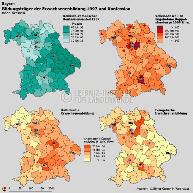 Bildungstrager Der Erwachsenenbildung Und Konfession Bayern 1997